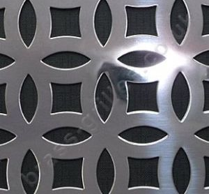 Farnham Interlocking Circle Grille Polished Stainless Steel Sheet 1000mm x 660mm x 1mm